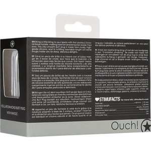 OUCH! PLUG ANAL DIAMANTE REGULAR – NEGRO